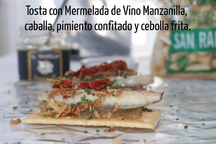 Tosta de caballa con Mermelada de Manzanilla