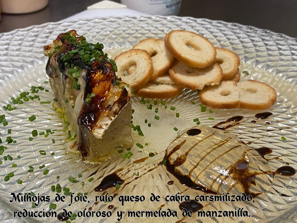 Foie con Mermelada de Manzanilla