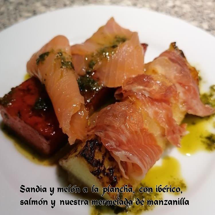 Melon a la plancha con Mermelada de Manzanilla
