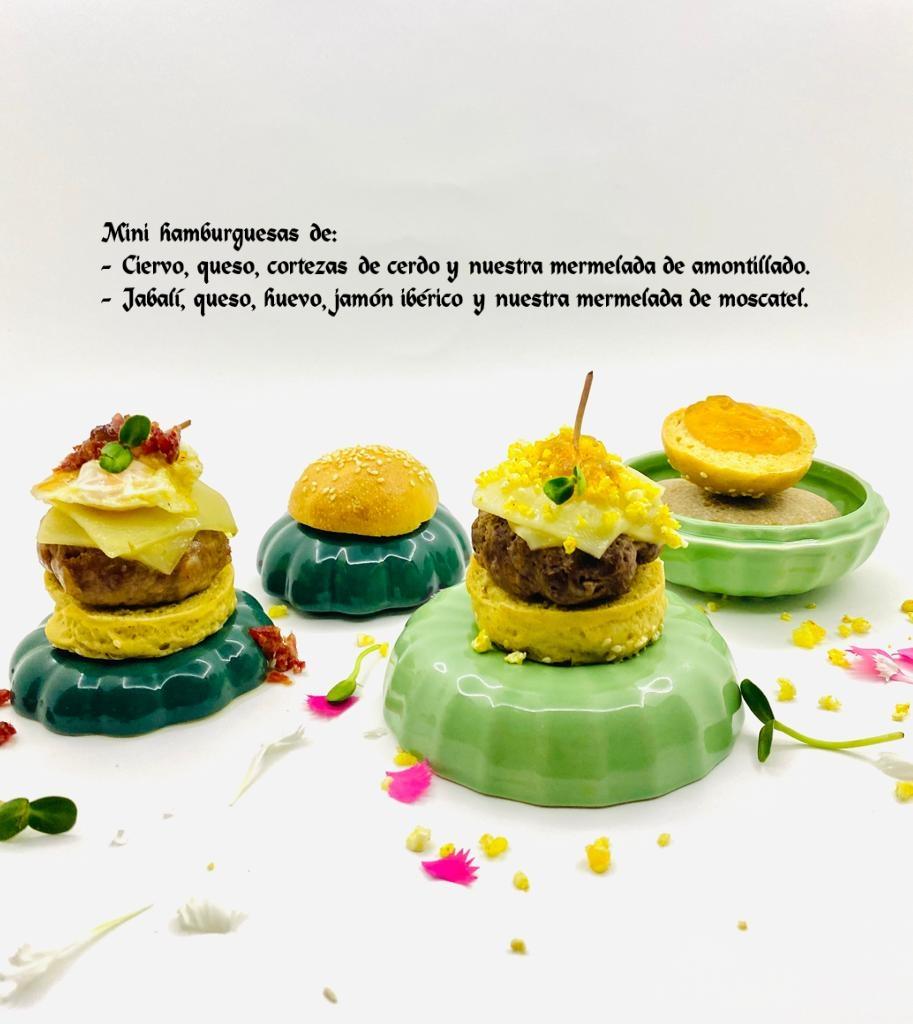 Mini hamburguesas con Mermeladas de Amontillado y Moscatel
